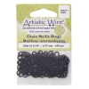 Chain Maille Jump Ring 18ga Black 3.5mm